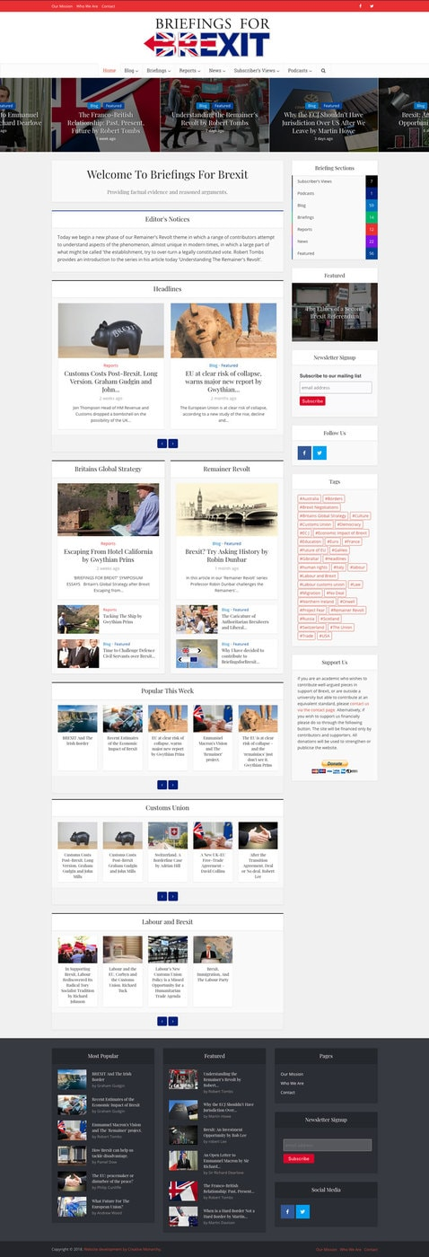 Briefings for brexit web blog