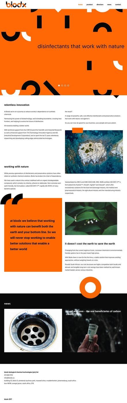 biodx web design