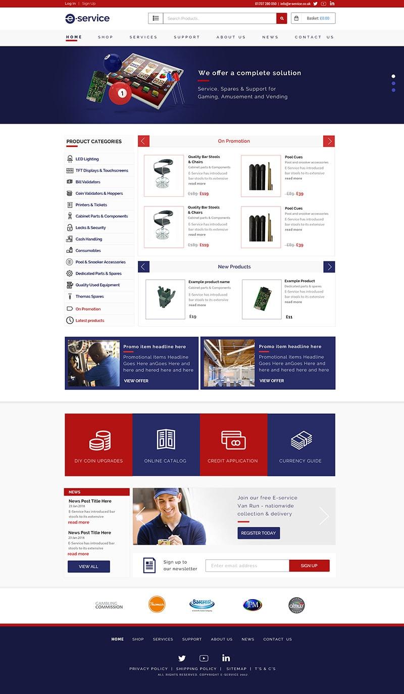 e-service e commerce website