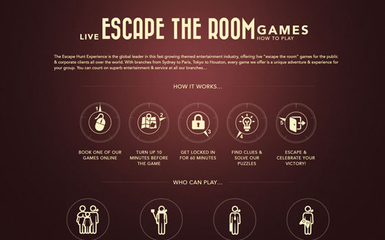 escape hunt adventure website development