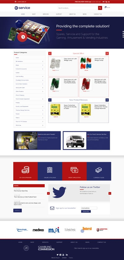 eservice e commerce website