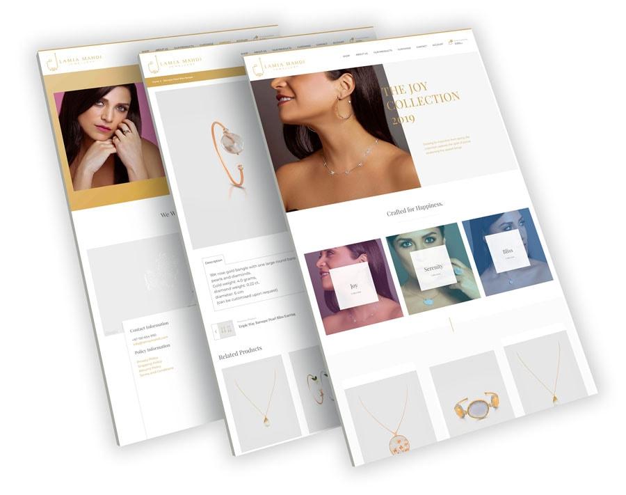 Perspective Web Design Mockup 1