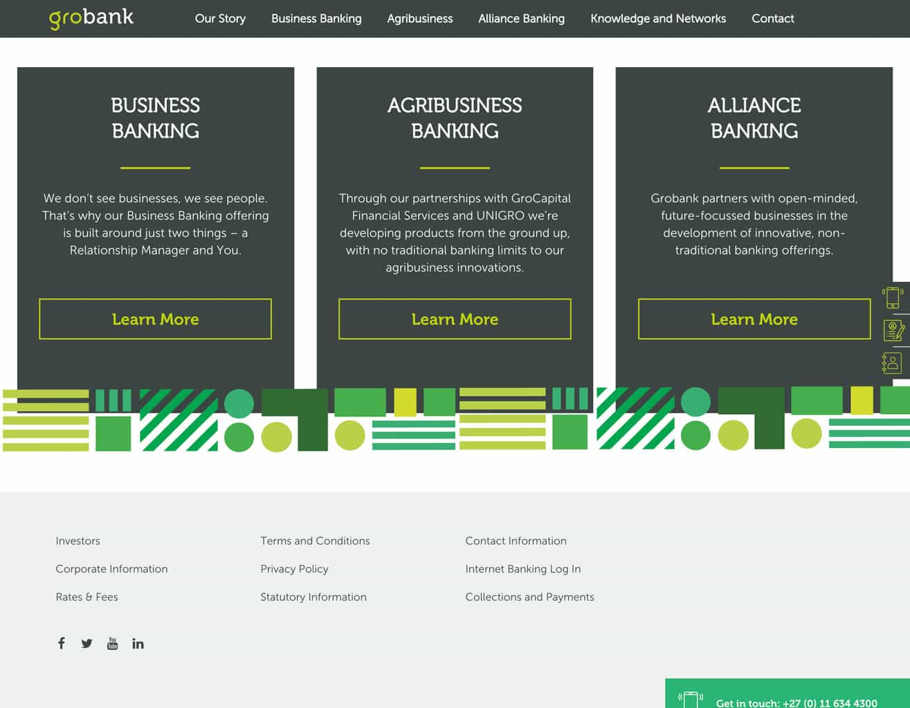 banking website ipswich design agency grobank