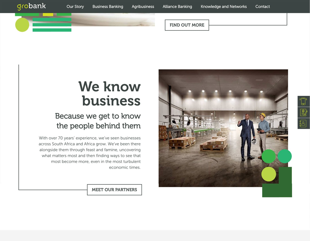 business website designed in wordpress