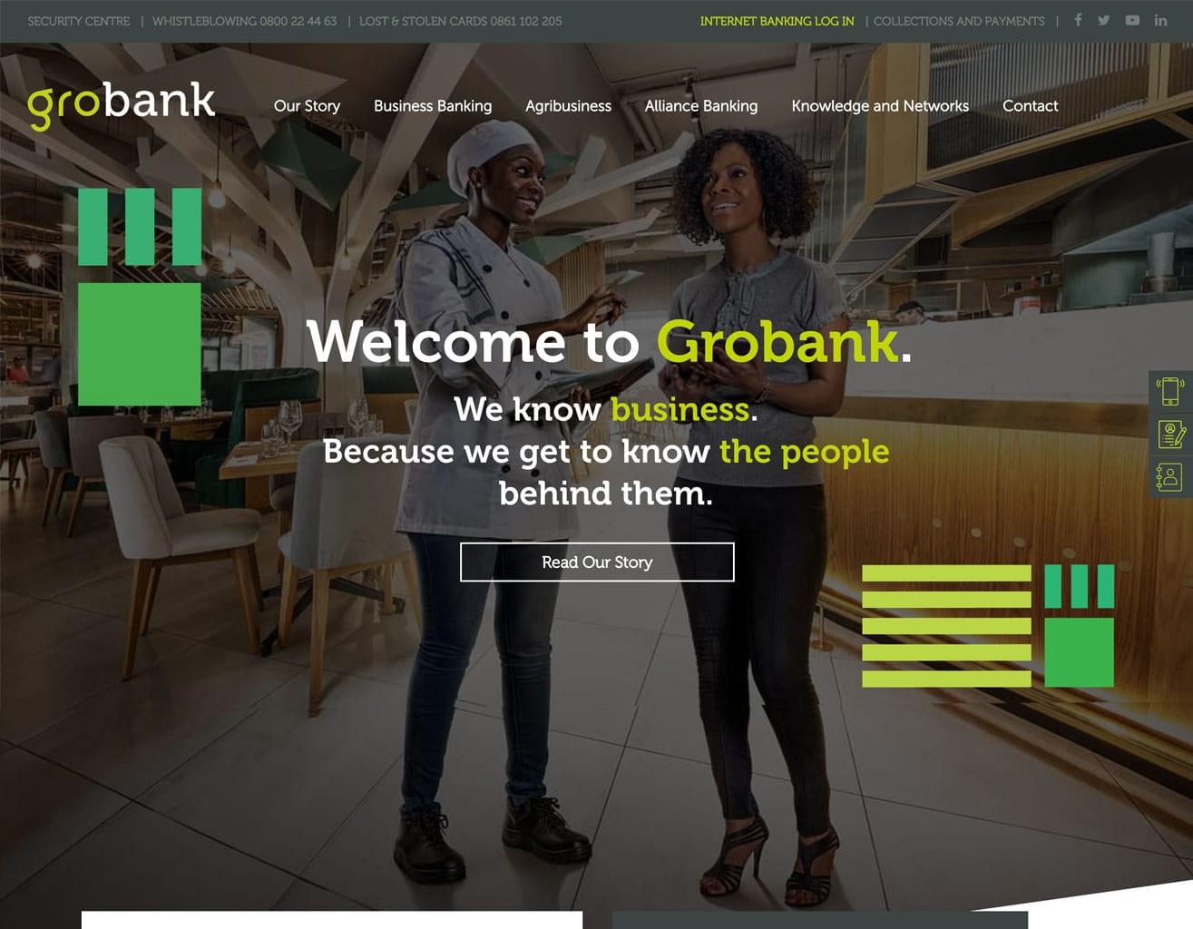grobank wordpress feature web page