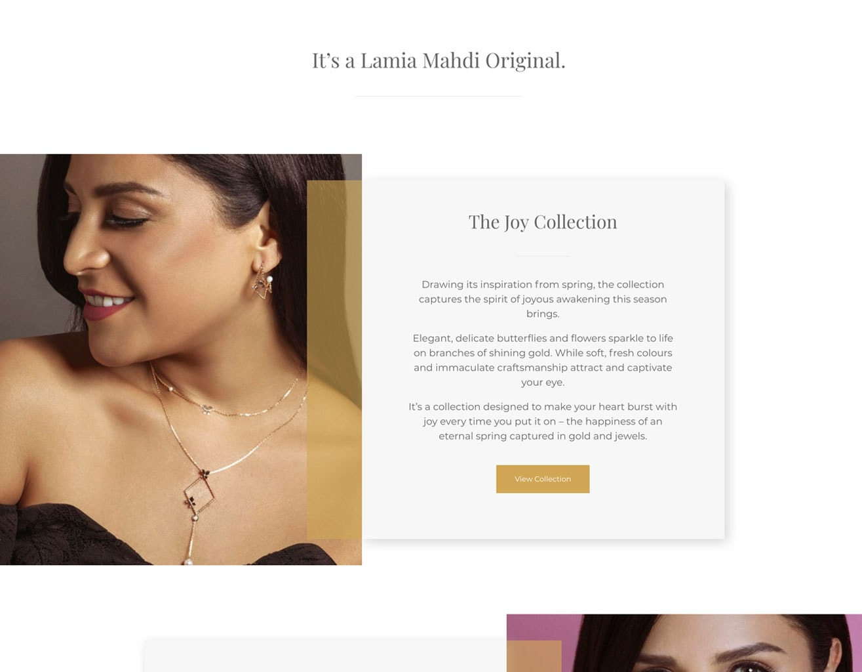 lamia ecommerce website 1