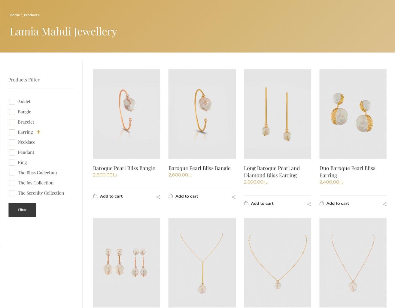 online website shop layout 1