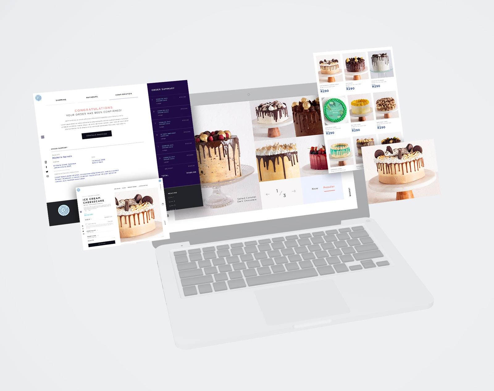 e-commerce website design example