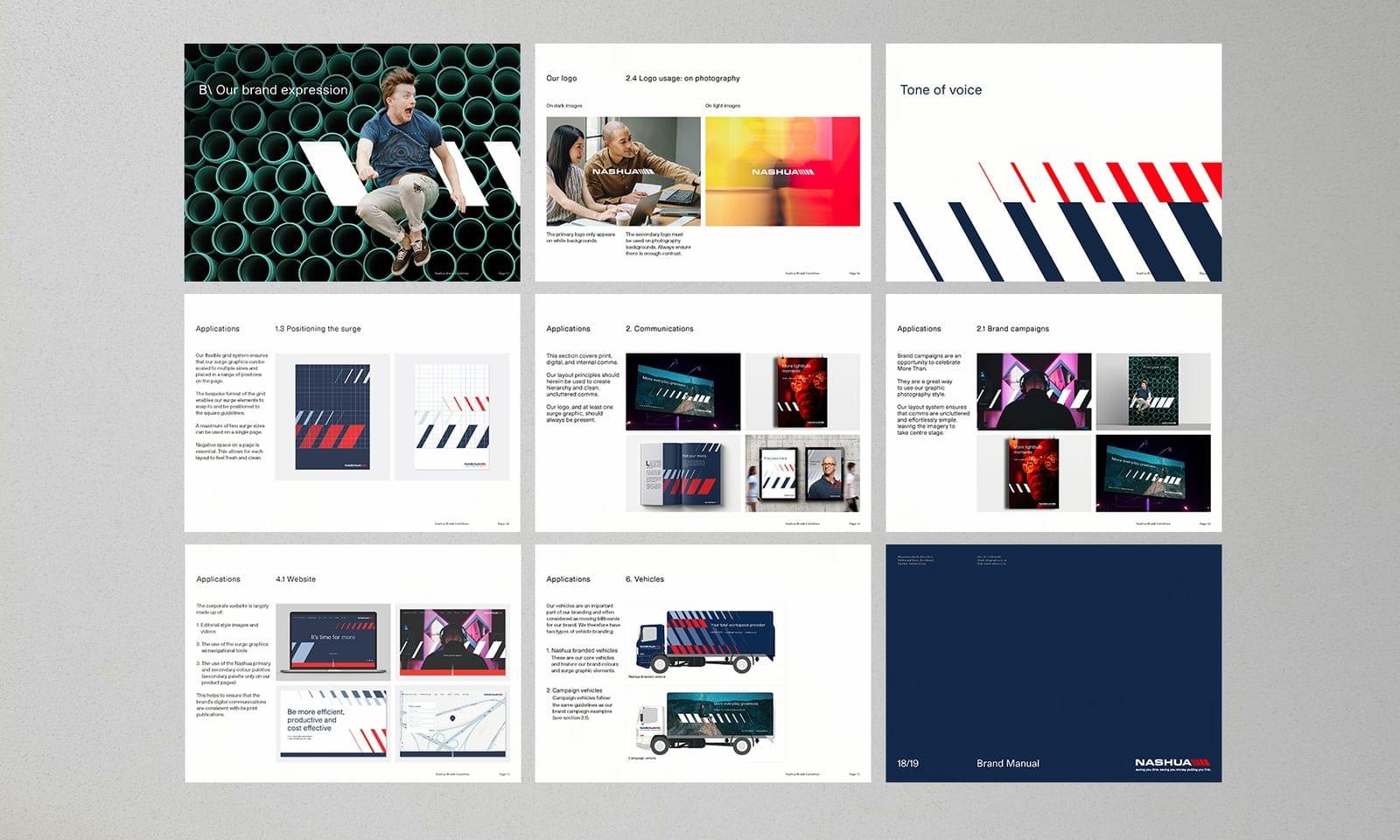 Graphic design mockups