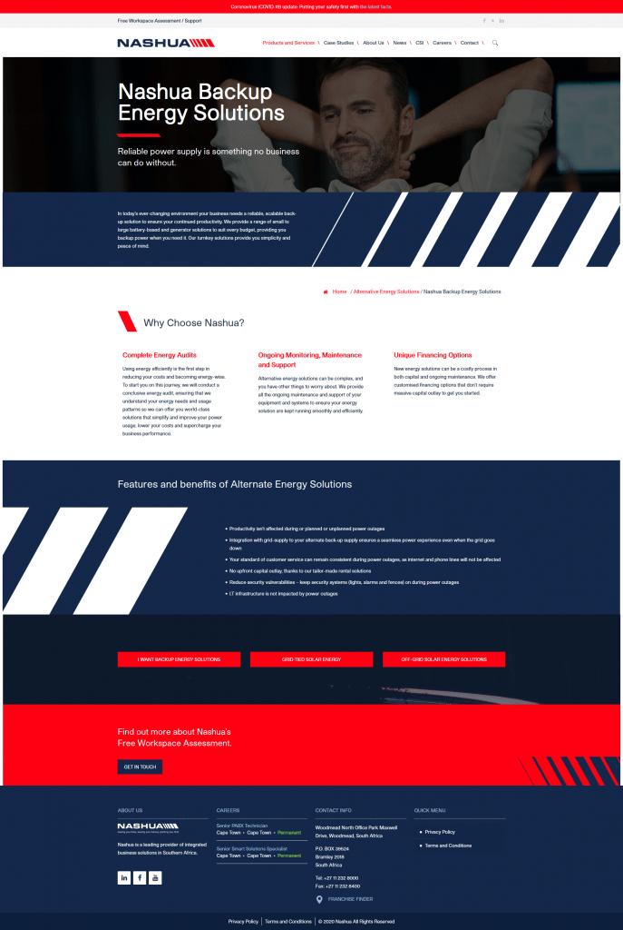 Nashua national website campaign