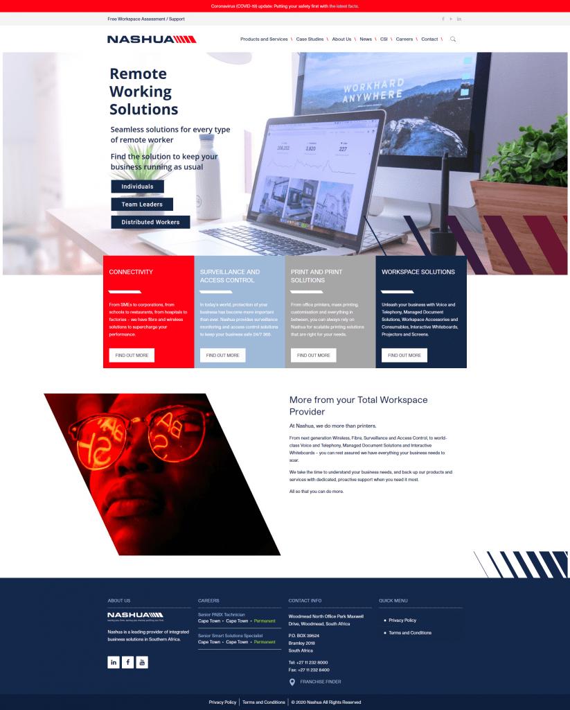Nashua national website homepage