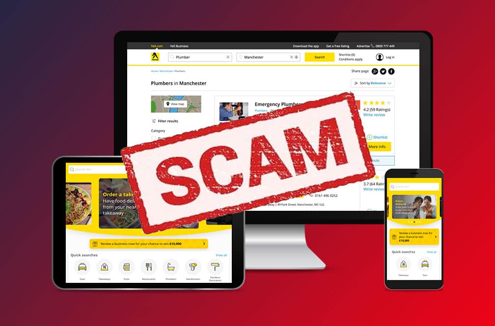review that yell.com is an seo scam and you should avoid them