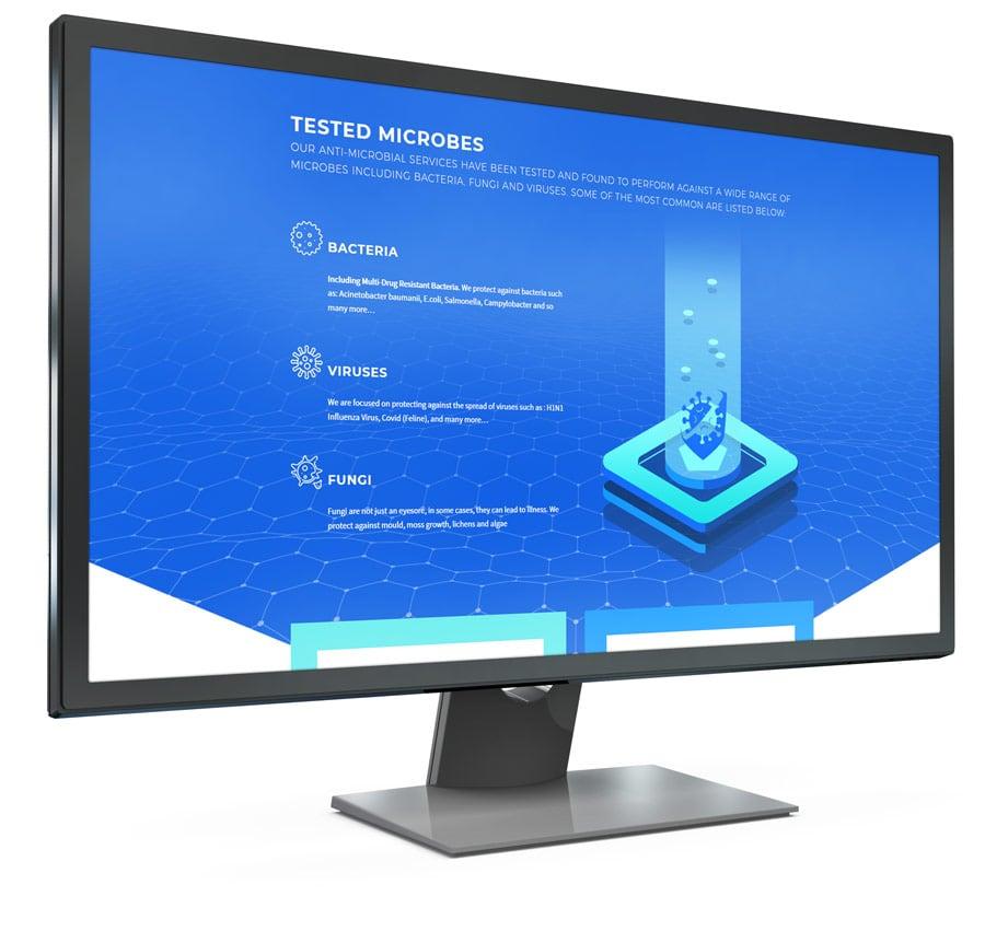 web design screen