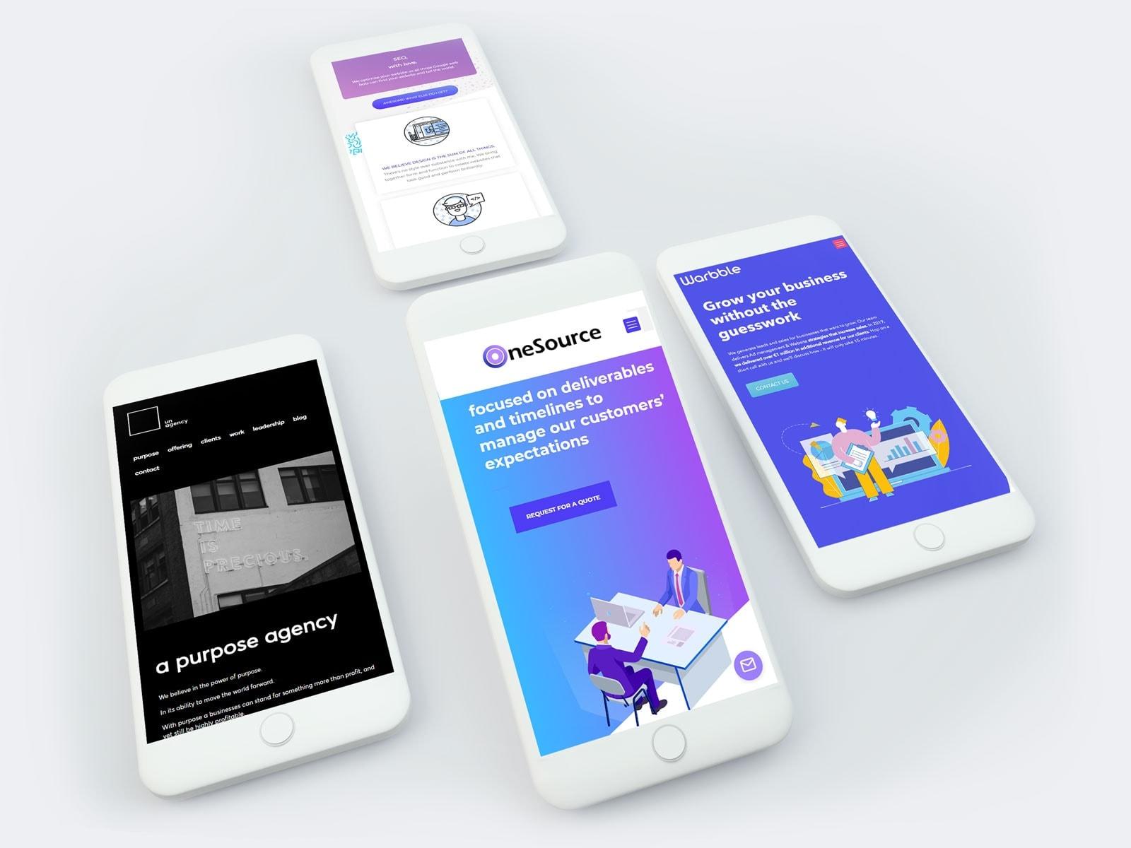 mobile e-commerce website development